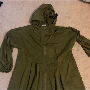 Jackets & Blazers - ANGVS Lightweight Hooded Jacket Hunter Green